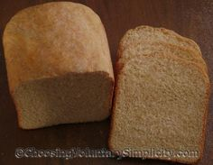 White or white whole wheat bread for bread machine. ★★Very good★★
