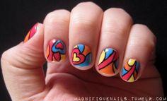 Swirling Hearts valentine #nail #nails #nailart