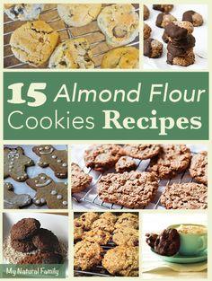 15 Gluten Free Almond Flour Cookie Recipes--need to replace the sweeteners to make keto Paleo Dessert, Dessert Sans Gluten, Gluten Free Sweets, Gluten Free Cookies, Gluten Free Baking, Dairy Free Recipes, Real Food Recipes, Cookie Recipes, Dessert Recipes