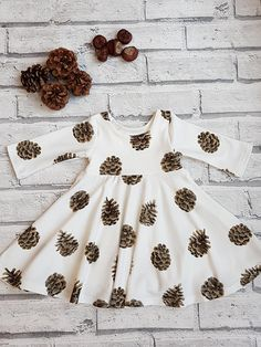 Fir Cone Dress Fall Dress Winter Dress Ballet Dress Twirl