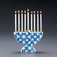#Hanukkah Selections: Moroccan Blue Menorah | $75