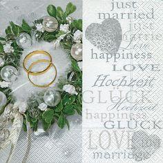 Kleidung & Accessoires Braut-accessoires Servietten Hochzeit Ambiente Tauben Ringe Inchies
