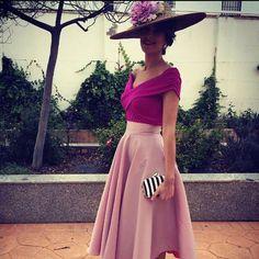 @blumynttf nos envia hoy este total look PANAMBI que nos ha encantado!!! Falda Midi Vera en Rosa Nude y top Liliana buganvilla!!! #envianostulook #invitadaperfecta #lookspanambi #coleccion2016 #panambicollection