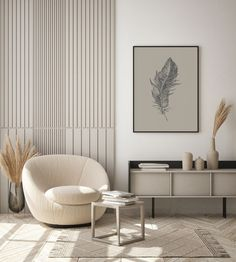 Wall Design, House Design, Feather Wall Art, Feather Print, Living Spaces, Living Room, Wall Art Prints, Decoration, Room Decor