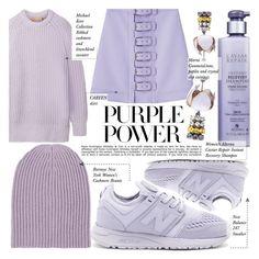 """International Women's Day: Purple Power"" by merrygorounds ❤ liked on Polyvore featuring Michael Kors, Alterna, New Balance, Marni, Barneys New York, Whiteley, polyvoreeditorial, purplepower, internationalwomensday and pressforprogress"