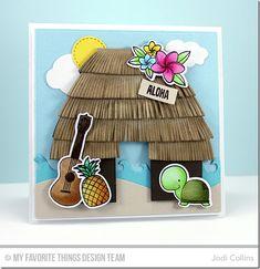 Polynesian Paradise, Tiki Party, Cloud Trio Die-namics, Dog House Die-namics, Making Waves Die-namics, Polynesian Paradise Die-namics, Snow Drifts Die-namics, Stitched Circle STAX Die-namics, Tiki Hut Die-namics, Tiki Party Die-namics - Jodi Collins  #mftstamps