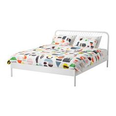 IKEA bed frame, Full size bed and frame Ikea Furniture, Bedroom Furniture, Ikea Nordli, Painted Beds, King Bed Frame, Bed Frame With Storage, Bed Slats, Bed Base, Large Drawers