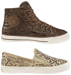 Cool laser cut leather Converse sneaks!