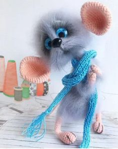 Cute Mouse Toy Crochet Pattern with Photos, Soft and Fluffy Little Mouse, DIY How To Crochet Tutorial Crochet Animal Amigurumi, Crochet Animal Patterns, Stuffed Animal Patterns, Amigurumi Doll, Crochet Toys, Mohair Yarn, Cute Mouse, Cute Crochet, Textiles