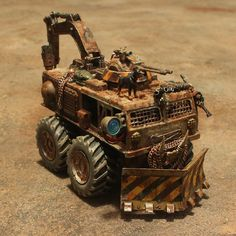 Scavenger vehicle that reclaims wrecks and junk after battles for credits. Bill Blight is a regular fence.er, customer of its wares. Zombie Survival Vehicle, Post Apocalyptic Art, Death Race, Miniature Cars, Custom Hot Wheels, Car Mods, Metal Toys, Post Apocalypse, Mad Max
