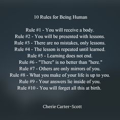10 rules for being human- everyone should read this
