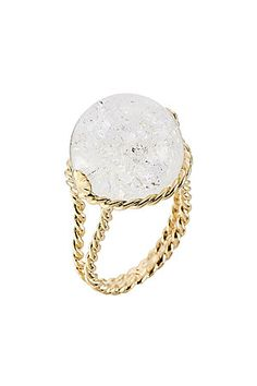 Imbued with mystical charm, this crystal ball-shaped ring from Aurélie Bidermann adds bohemian-luxe style to any look #Stylebop