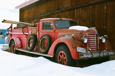 Old firetruck in Montana.