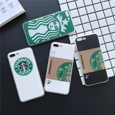 Soft edge Silk print shell for iphone 5 5s SE 6 6s plus 7 plus phone cases Fashion Starbuck Coffee pattern back cover cases