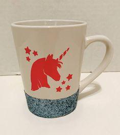 Unicorn Glitter Mug by Enchanting Creations on Etsy