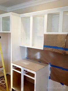 Painting Kitchen Cabinets White | Beneath My Heart