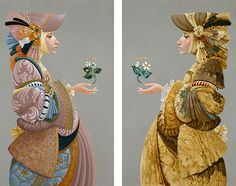 Two Sisters By James C. Christensen Published by The Greenwich Workshop