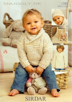 Childrens Sweaters, hat and Blanket in Sirdar Snuggly DK -1785. Discover more Patterns by Sirdar at LoveKnitting. The world's largest range of knitting supplies - we stock patterns, yarn, needles and books from all of your favourite brands.