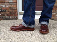 alden #4 wingtip boots