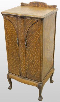 Original Antique Music Cabinet Cabinets