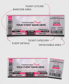 Event Ticket Template Word Boarding Ticket Pass Template In Blue Tones  Free  Tickets .