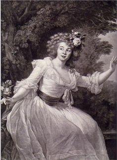 Portrait of French actress Louise Rosalie Dugazon  - Louise Elisabeth Vigée Le Brun