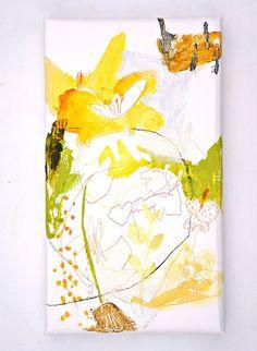 Mejirushi  (2012) Oil on canvas, coloured pencil 465x265x40mm by mayakonakamura, via Flickr