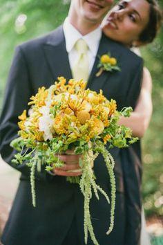 Lisa Foster Floral Design - Yellow Green Wildflower Bouquet