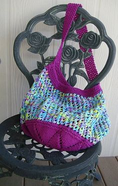 Ravelry: Let's Go To The Market Bag pattern by Lindsey Melvin Market Bag, Knit Patterns, Bag Patterns, Womens Purses, Knitted Bags, Free Knitting, Knitting Needles, Knitting Projects, Knitting Ideas