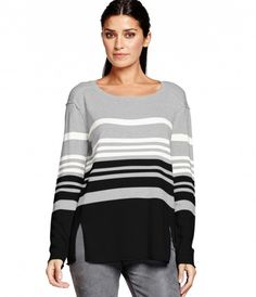 Michael Stars Long Sleeve Crew Neck Pullover with Forward Seams