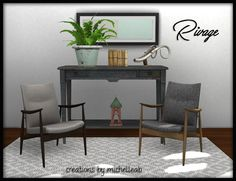 Sims 4 CC's - The Best: Furniture Set by Michelleab's SIMblr