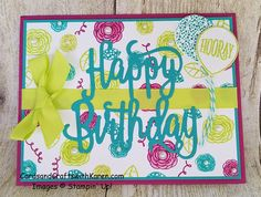 Card for PCC245 featuring Happy Birthday Gorgeous Bundle available June 1, 2017 by Stampin' Up!.