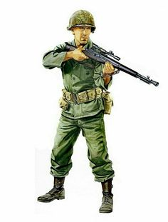 USMC sniper, Korean war, 1950 - pin by Paolo Marzioli Military Humor, Military Guns, Military Art, Usmc, Marines, Ww2 Uniforms, Naruto Fan Art, Matchbox Art, Ww2 History