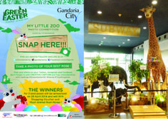 JOIN My Little Zoo Photo Competition 28 March - 27 April 2014 @ My Little Zoo by Hansa at Subway Lobby.  Take a photo of your best pose , post your photo on your Twitter, Instagram and FB. Don't forget add CREATIVE CAPTION and tag @Gandaria City with hashtag #GreenEasterGC #Hansa #ToysKingdom  THE WINNERS for the 3 best poses will announced on 28 April 2014 and will WIN Shopping Voucher & Plush Animal from Hansa.