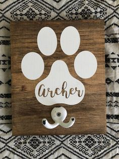 Personalized Dog Leash Hook // Leash Hook // Dog Decor // Dog Leash // Custom
