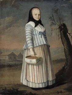 The Strawberry Girl, about 1782, by Nils Schillmark | Finnish National Gallery | Museo Finna