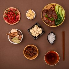 Chinese food: beef noodle and related ingredients - Chinese food: beef noodle…