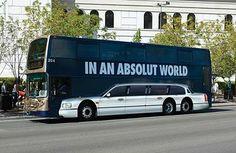 Absolútne vydarený reklamný autopolep pre Absolut