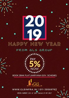 """""""Wishing you and your family good health, happiness, success and prosperity in the coming year! Have a great start to a great year! Happy New Year 2019, Real Estate Development, Affordable Housing, Flats For Sale, Your Family, Happiness, Success, Health, Books"""