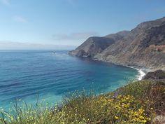 Estrada na costa da Califórnia tem vista impressionante do mar; fotos http://glo.bo/1uIuvLG (Foto: Flávia Mantovani)