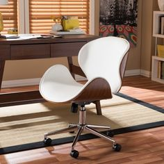 Shop for Baxton Studio Bruce Walnut Modern Office Chair. Get free delivery at Overstock.com - Your Online Office Furniture Store! Get 5% in rewards with Club O!