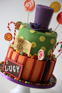 Willy Wonka - Cake by The Sugar & Spice Cake Company