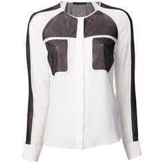 L.A.M.B. button down panel shirt