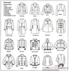 types of outwears