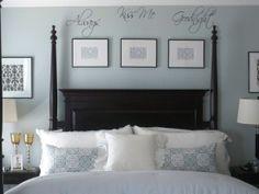 Bedroom in transition..HGTV...Always Kiss Me Goodnight