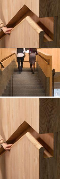 Stair Design Idea – Built-In Stair Handrail | CONTEMPORIST