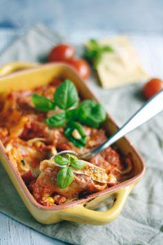 Überbackene Maultaschen mit Gemüse- Einfaches 30 Minuten Rezept