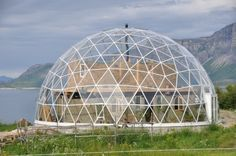 Gorgeous Solar Geodesic Dome Crowns Cob House in the Arctic Circle | Inhabitat