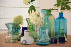 Hanneke Huisman interieurs - glass vases Cantel collection by Imperfect Design; designed in the Netherlands, handmade by Guatemalan glass blowers.