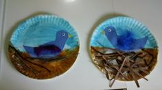 paperplate bird nest